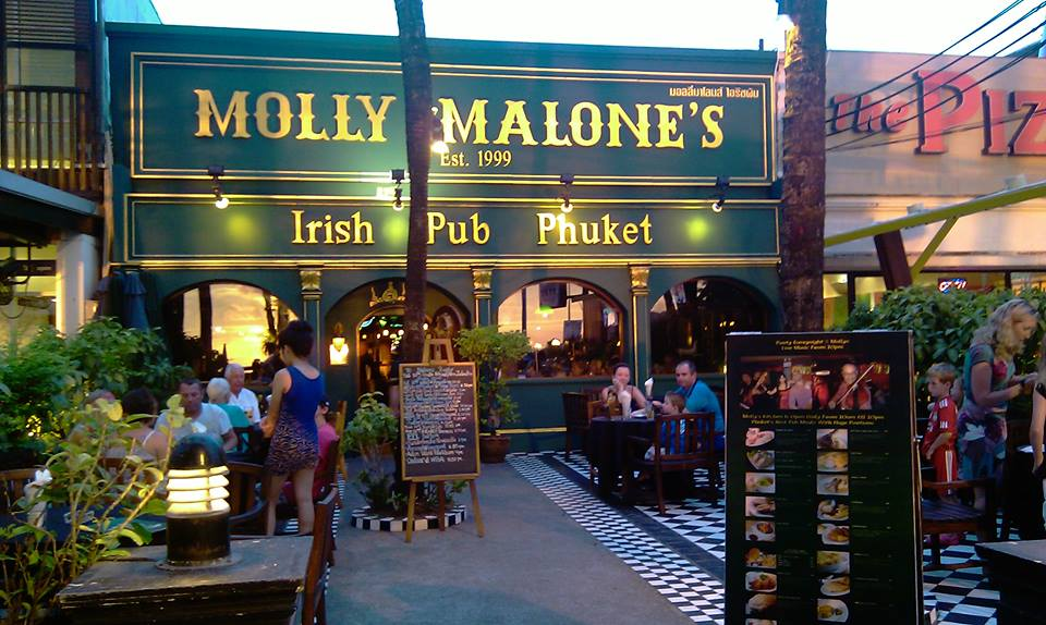 CR: Photo from facebook Molly Malones Irish Pub Phuket