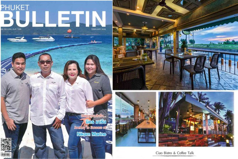 Phuket Bulletin, Ciao Bistro, Coffee Talk Cafe