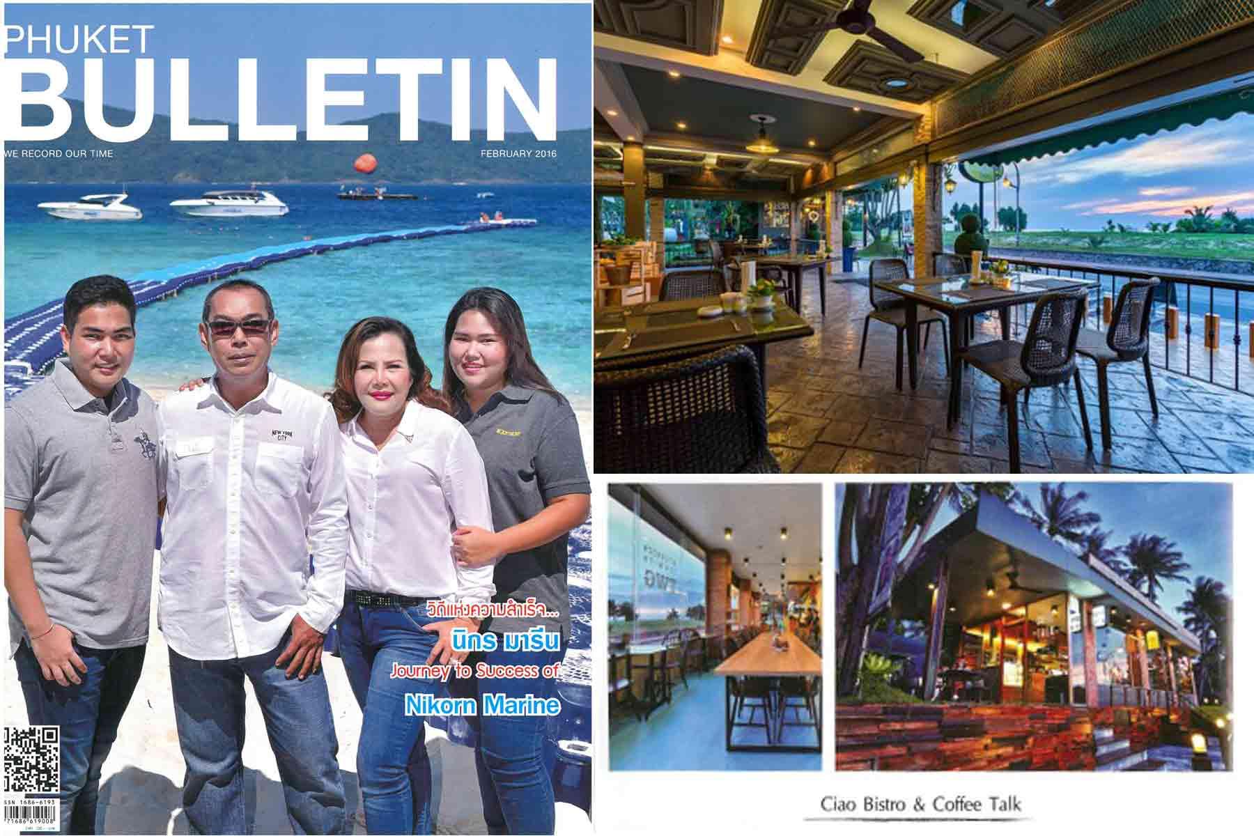 Phuket Bulletin, Ciao Bistro, Coffee Talk Cafe
