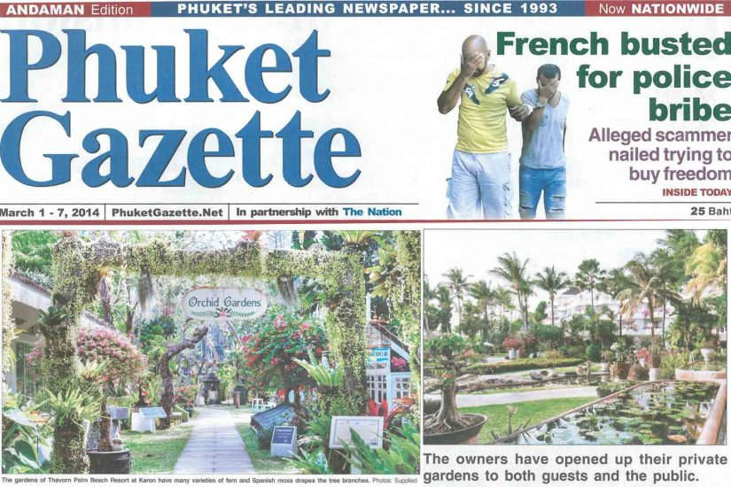 Phuket Gazzette, Life & Style, Thai tradition meets nature , Thavorn Palm Beach Resort Phuket