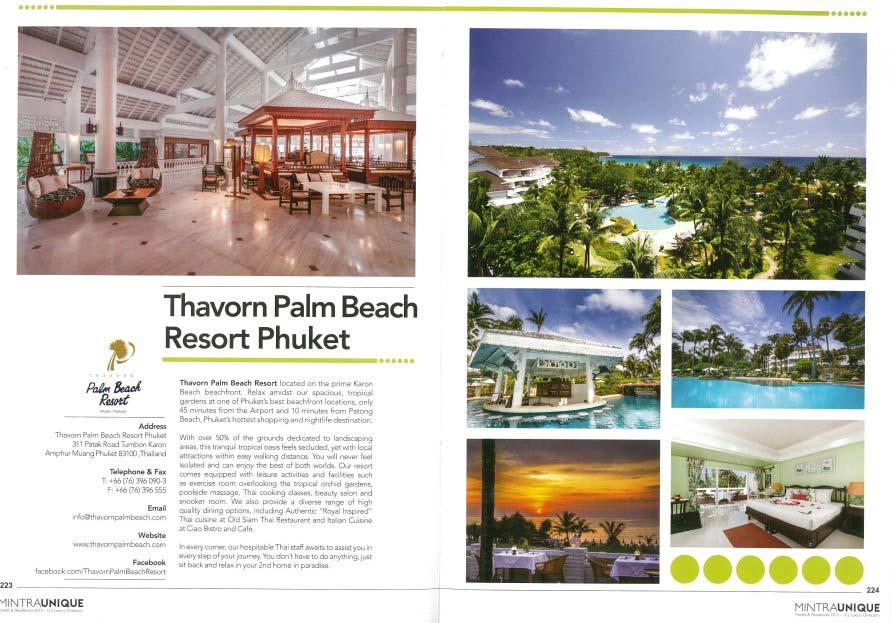 MINTRAUNIQUE | Thavorn Palm Beach Resort Phuket