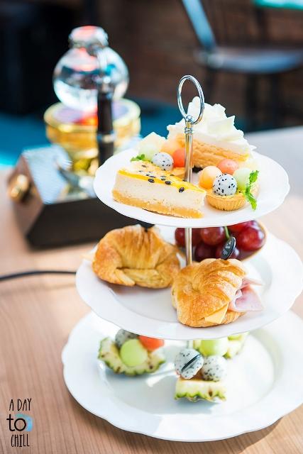 tea set at coffee talk cafe phuket