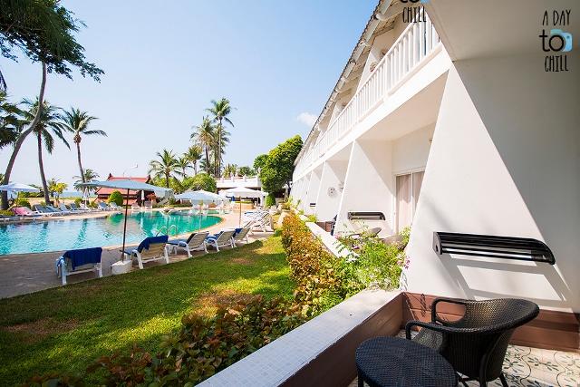 terrace pool view, Thavorn Palm Beach Resort