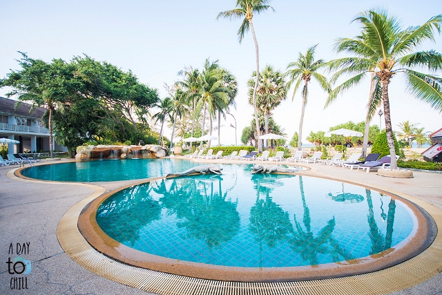 crocodile pool at thavorn palm beach resort