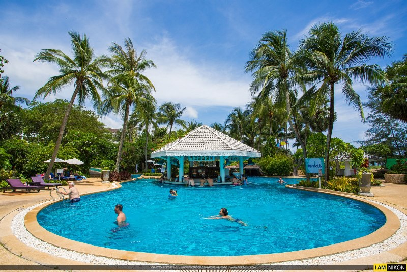 pool bar, family beach resort, karon phuket