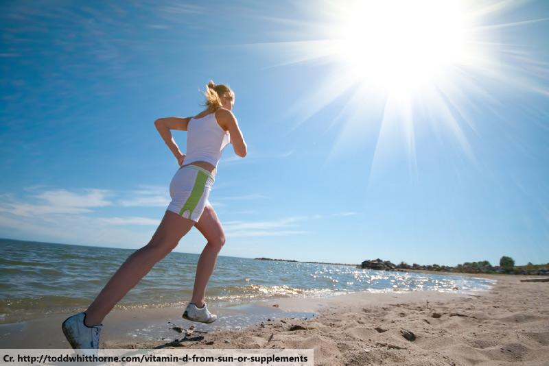 vitamin D from sun, on phuket beach