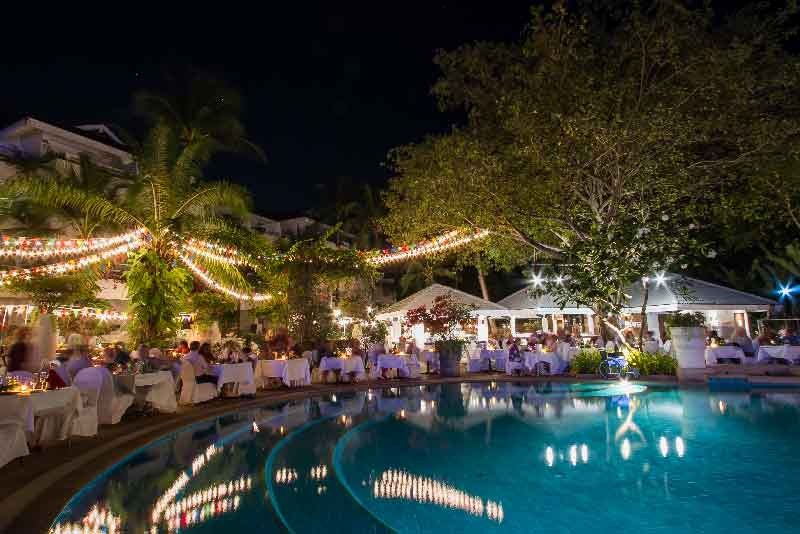 Romantic Poolside Dining in Karon