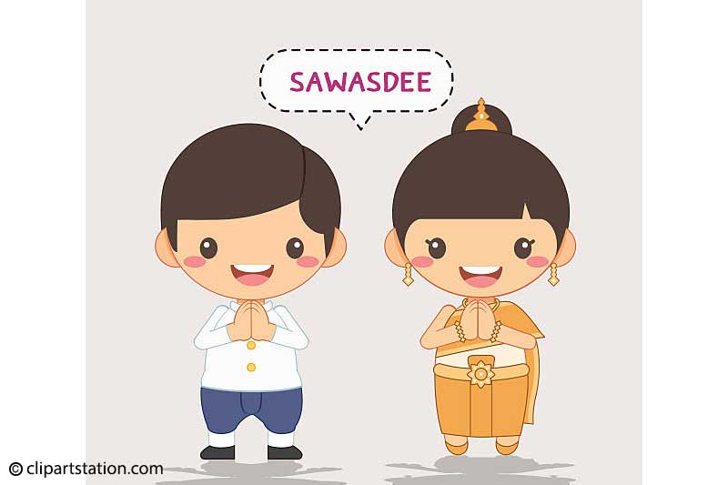 Greeting, Sawasdee,Wai