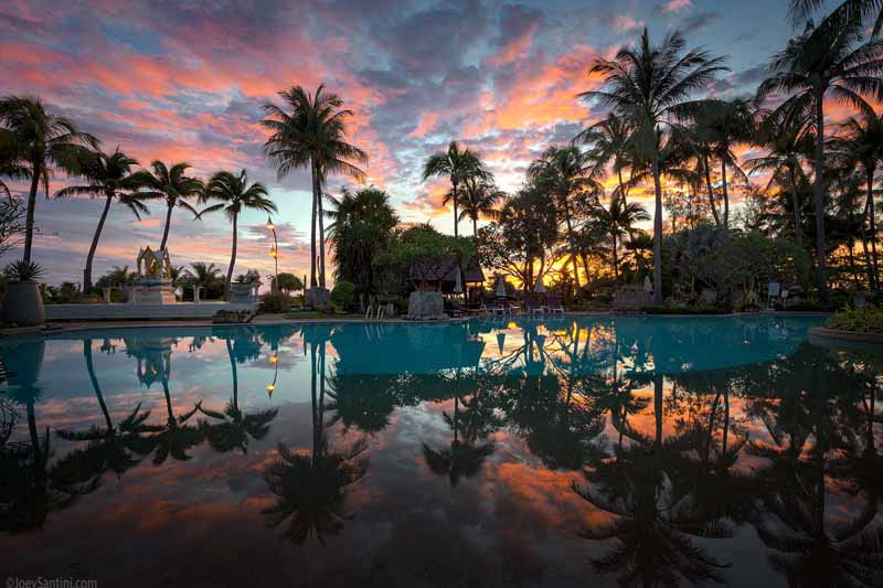 Swimming Pool ,karon Beach, sunsets